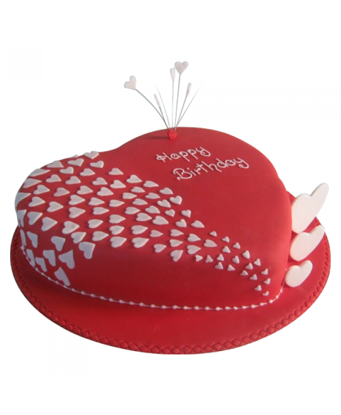 Red valvet cake Heart Shape 2kg